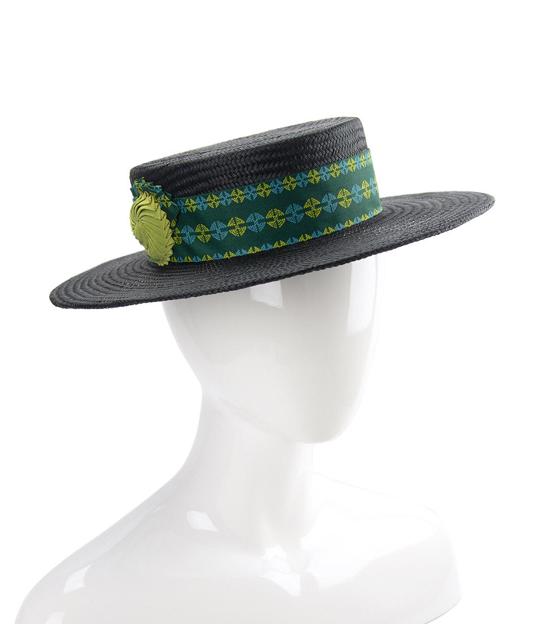 Black straw boater hat