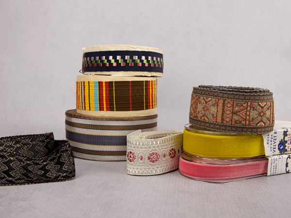Vintage ribbons for millinery